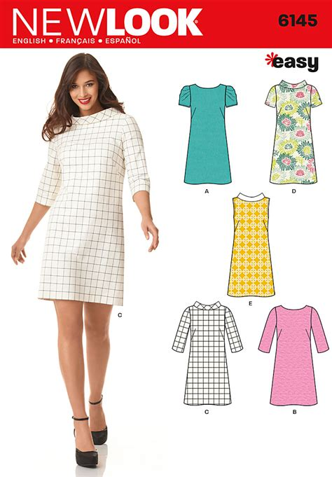 sewing templates new look 6145 misses dress