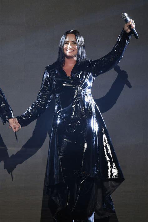 demi lovato leather coat demi lovato  stylebistro