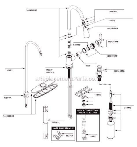 Moen CA87020BRB Parts List and Diagram : eReplacementParts.com