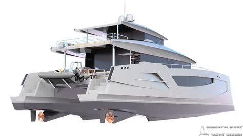 Catamaran Hull Design by Corentin Yacht Design Power Multihull