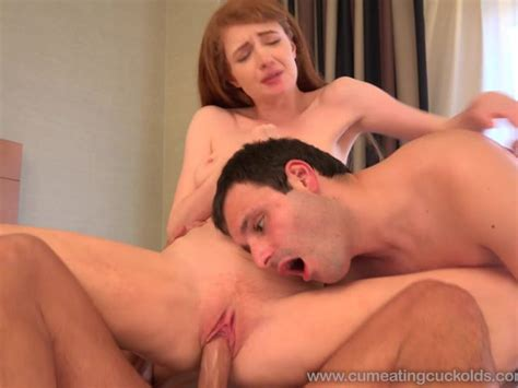 Redhead Has Her Cuckold Husband Eat The Creampie From Her Pussy Free Porn Videos Youporn