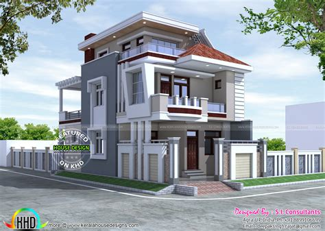 home architecture design 25x50 beautiful modern home kerala home design and floor