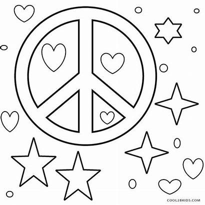 Peace Coloring Sign Pages Signs Printable Adults