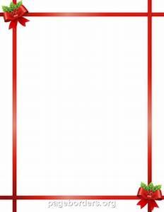 Free Microsoft Word Holiday Borders Christmas Ribbon Border Clip Art Page Border And Vector