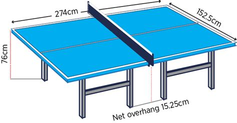 what are the dimensions of a table tennis table table tennis