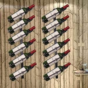 European, Style, Wine, Rack, For, 4, 6, 8, Bottles, Iron, Wall, Mounted, Wine, Holder, Wine, Bottle, Display