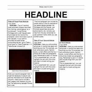 Free Newspaper Template – 20+ Free Word, PDF, PSD ...
