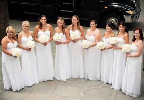 All White Bridesmaids Dresses!