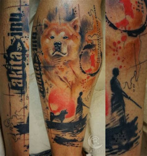 coolest akita inu tattoo designs   world