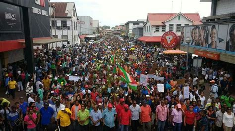 Carib Newsdesk Dem Waves by Suriname Fuel Price Hike Triggers Protest