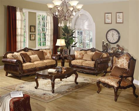 Traditional Sofas And Loveseats by Radbourne Traditional Brown Floral Sofa Loveseat In