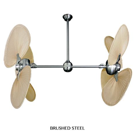 twin star ii tropical palm leaf double motor ceiling fan