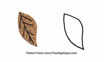 Applique Leaf Patterns Fall Leaves Template Printable