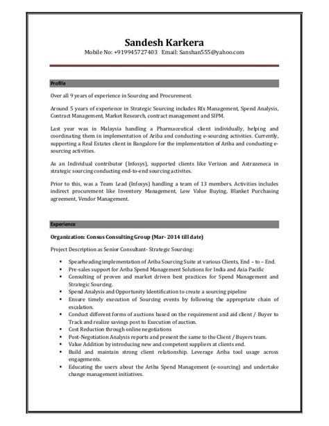 sandesh resume strategic sourcing consultant 2015