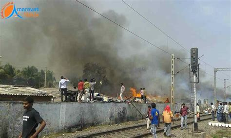 Woman Died and 100 Huts Burnt in Fire Accident at ...