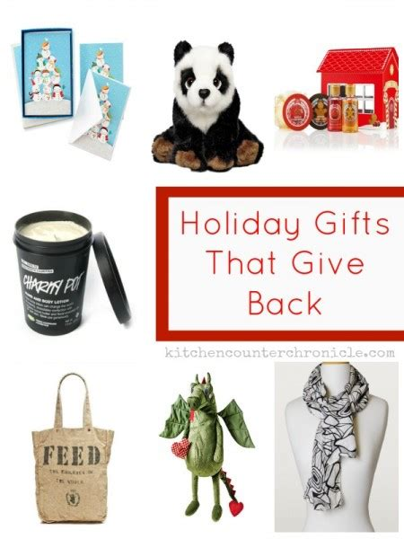 holiday giving gifts that give back