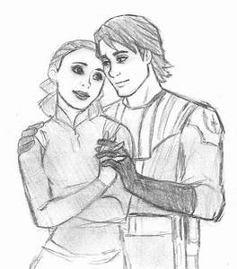 Padme and Anakin - Star Wars Clone Wars sketch by ...