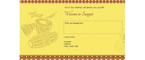 ladies sangeetmehndi ceremony invitation card