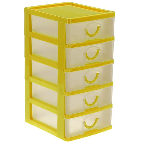 tiroir de rangement en plastique bloc coffret tour boite de rangement 5 tiroirs plastique ebay