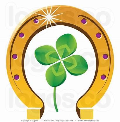 Horseshoe Lucky Clipart Clip Luck Gold Clipartpanda