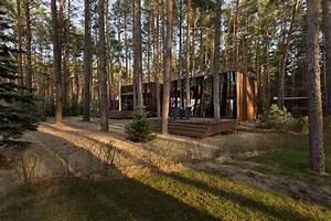 Yod Design Studio Sets Guest Houses Amid Ukrainian Forest