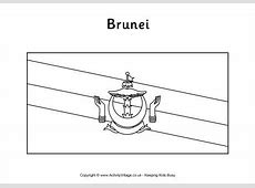 Brunei Flag Colouring Page