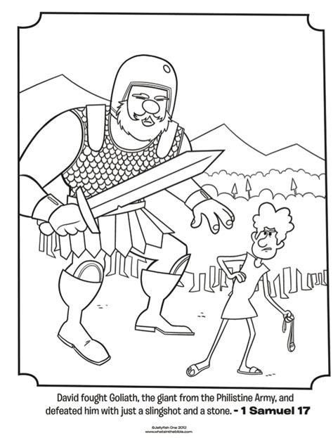 david  goliath bible coloring pages whats