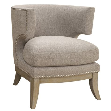 902560 accent chair in grey chenille fabric by coaster