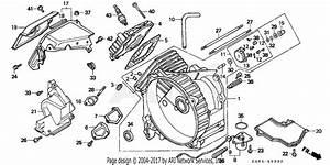 Honda Ex650 A Generator  Jpn  Vin  Ge100 Em650cylinder Head   Cylinder