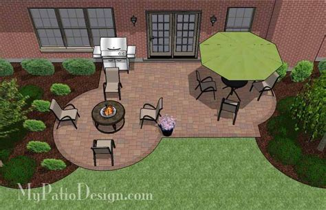patio layout design small backyard patio design layouts and material list mypatiodesign com
