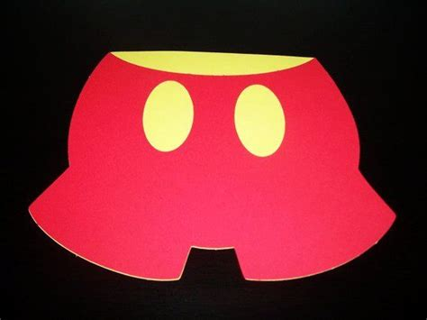 mickey pants template red mickey mouse red pants diecut