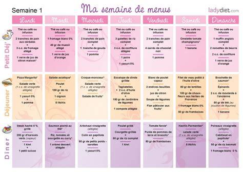 cuisine regime menus pour mincir sur une semaine ou pour un mois de regime