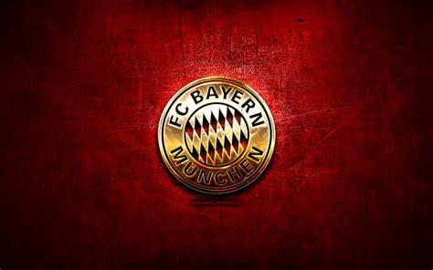 Download wallpapers Bayern Munchen FC, golden logo ...