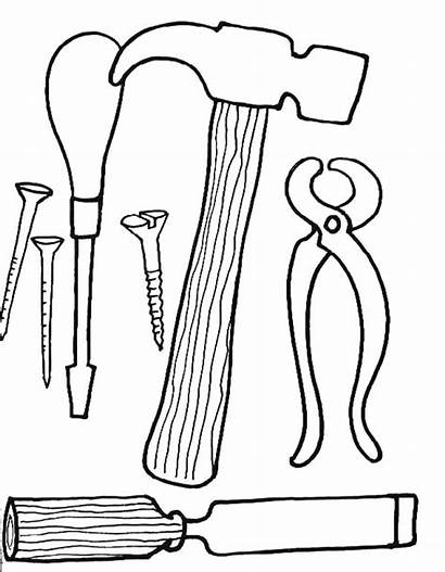 Tools Coloring Printable Pages Wrench Tool Sheet