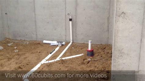 basement drain building a house 09 plumbing