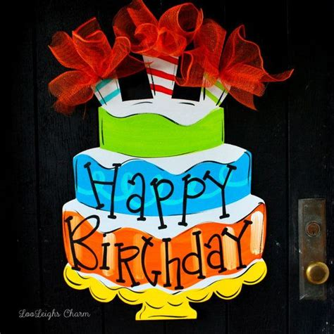 birthday door decorations ideas  pinterest