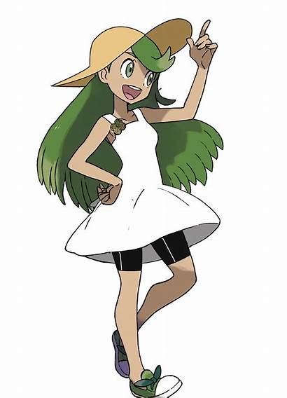 Pokemon Mallow Female Trainers Trainer Waifu Anime
