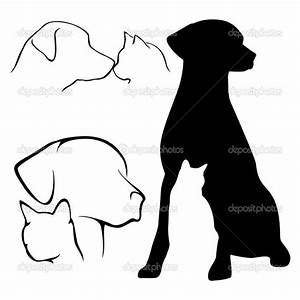 Dog And Cat Silhouette With Heart | Clipart Panda - Free ...