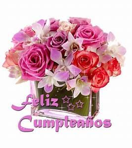 gifs animados con movimiento de flores feliz cumpleaños Buscar con Google Felicidades