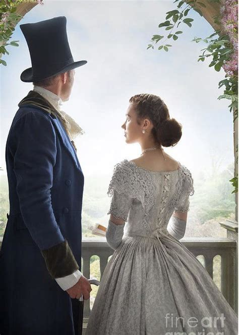romantic victorian couple   garden couples