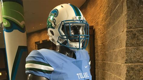 tulanes set  debut  gorgeous sky blue uniforms