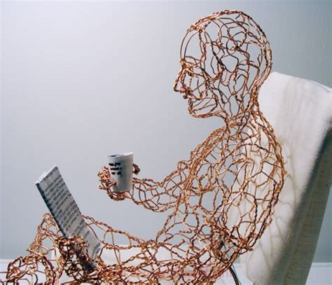 Wire Sculptures of People by Ruth Jensen