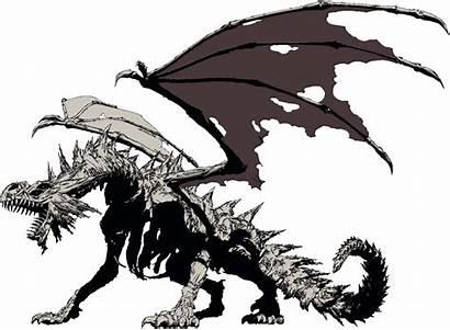 Dragon Skeletal Cool Drawings Skeleton Monster Fantasy