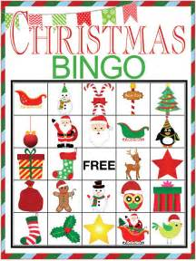 christmas bingo printable game design dazzle