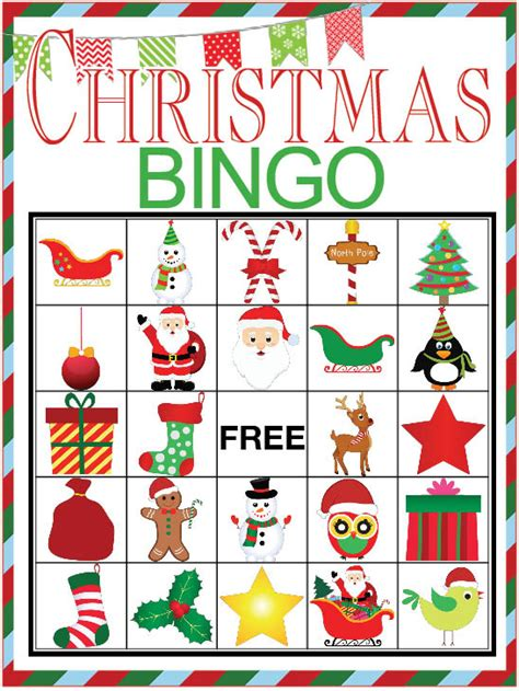 christmas bingo printable game our thrifty ideas