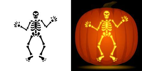 skeleton pumpkin stencil