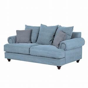 2 Sitzer Sofa Günstig : sofa davido 2 sitzer baumwollstoff hellblau maison belfort g nstig bestellen ~ Frokenaadalensverden.com Haus und Dekorationen
