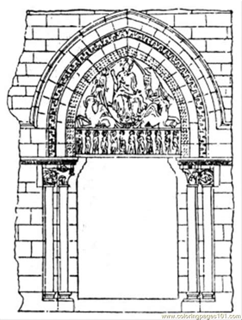 Coloring Pages Arch (architecture > Structures) Free