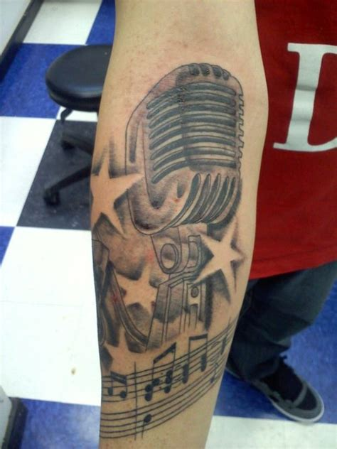 microphone tattoos designs ideas  meaning tattoos