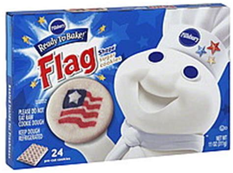 The cookies are perfect for a sweet frosting. Pillsbury Sugar Cookies Flag Shape 24.0 ea Nutrition Information | ShopWell